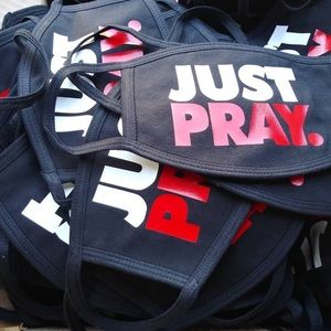 Just Pray Nike Inspired Face Mask